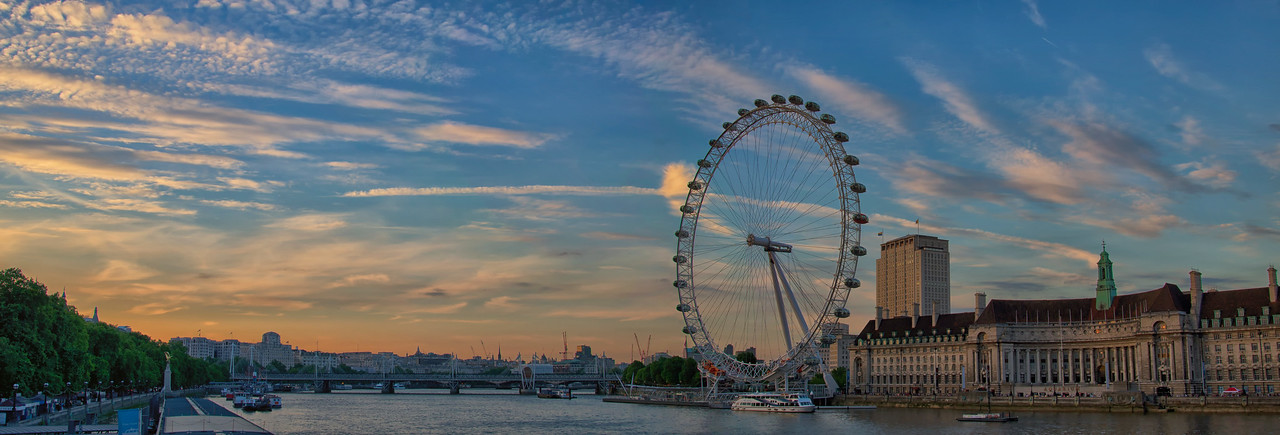 Thames London Eye Pano