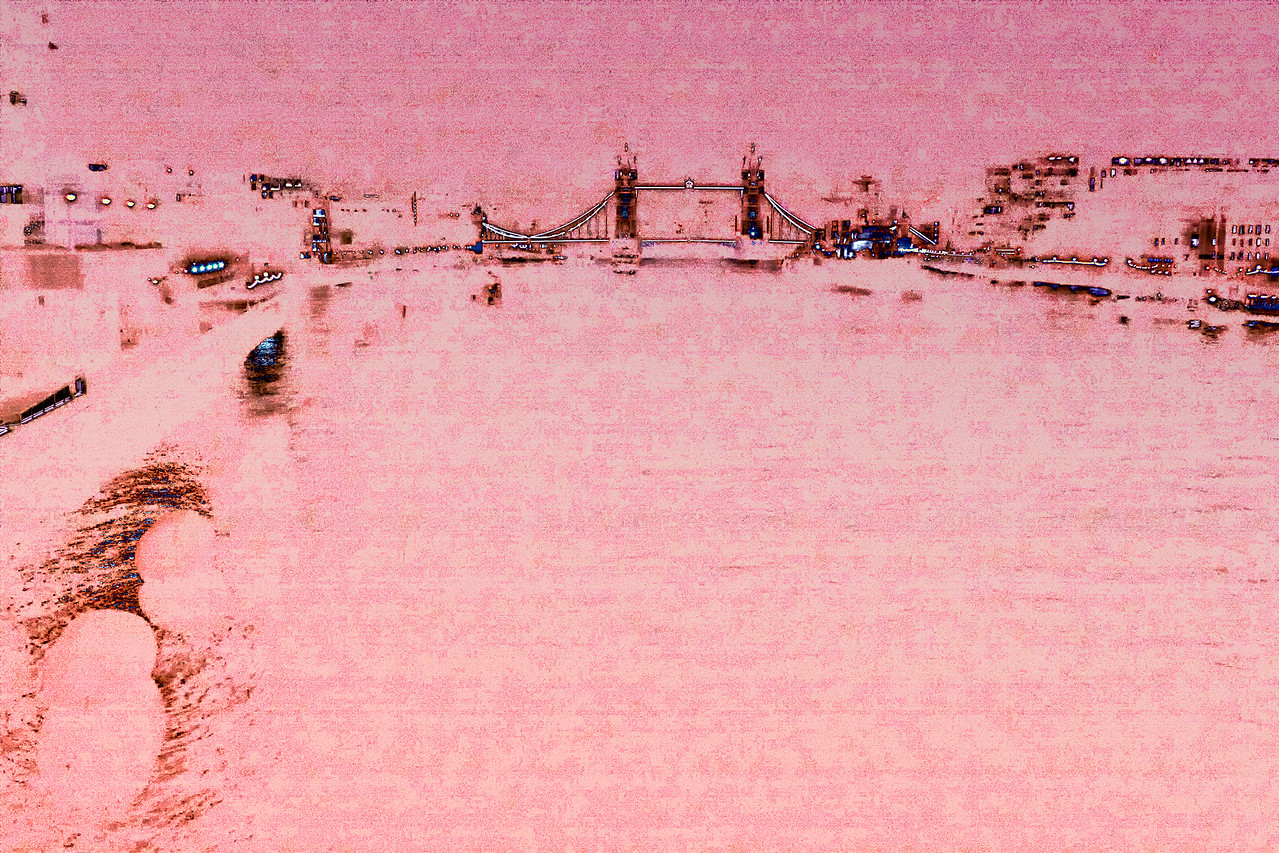 Tower Bridge Abstract Violet Pink